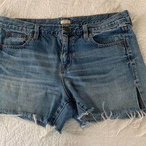 JCrew cropped denim jean short